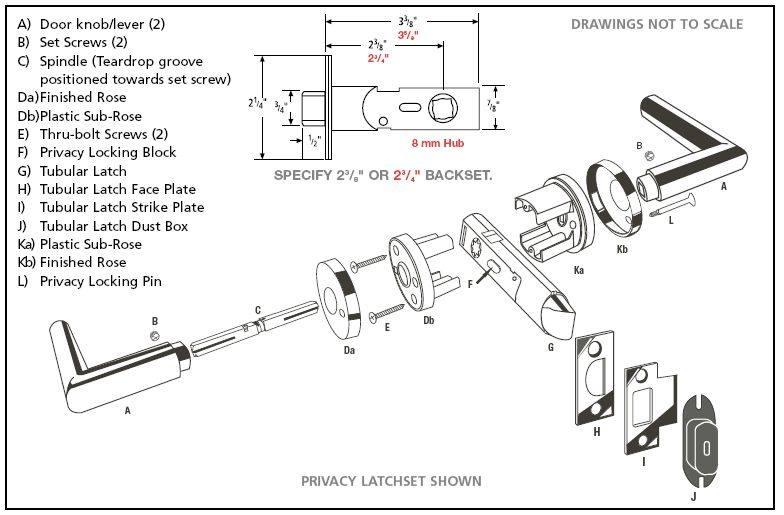 baldwin door knob parts photo - 4