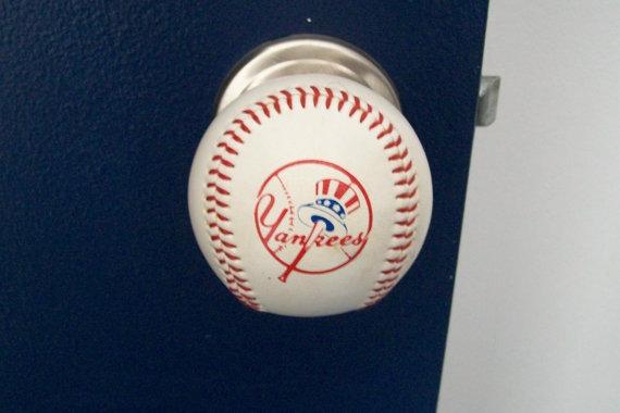 baseball door knob photo - 1