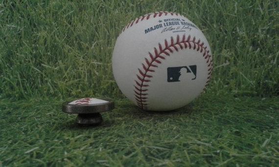 baseball door knob photo - 2
