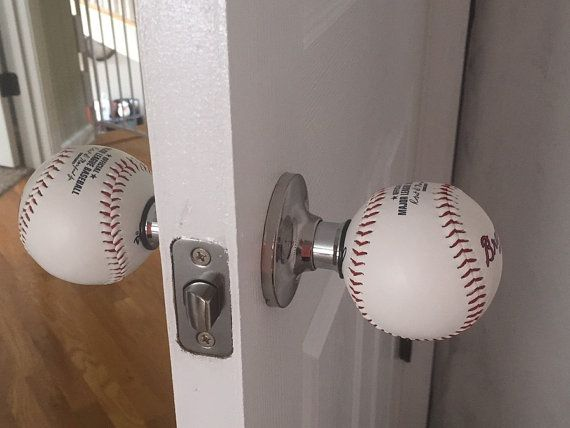 baseball door knob photo - 8