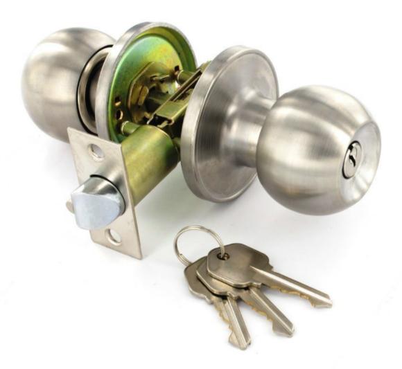 bedroom door knob with key lock photo - 20