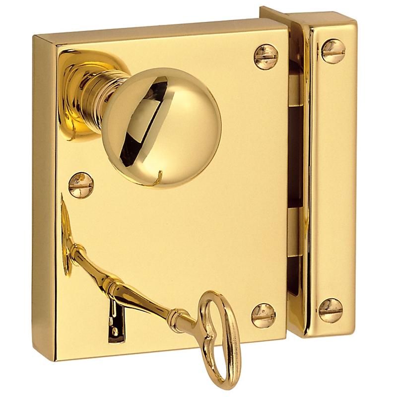 bedroom door knob with key lock photo - 8