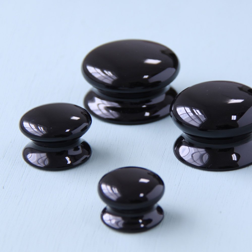 black ceramic door knobs photo - 14