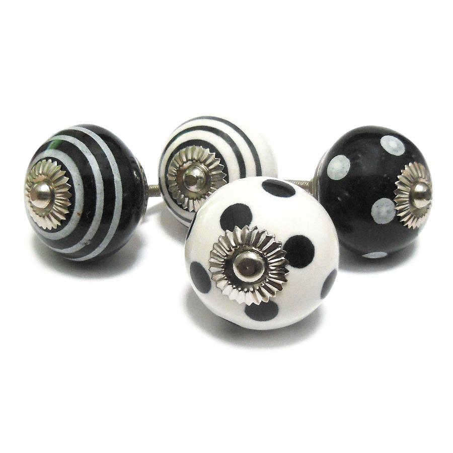 black ceramic door knobs photo - 3