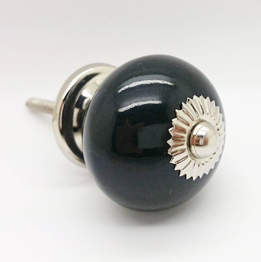 black ceramic door knobs photo - 8