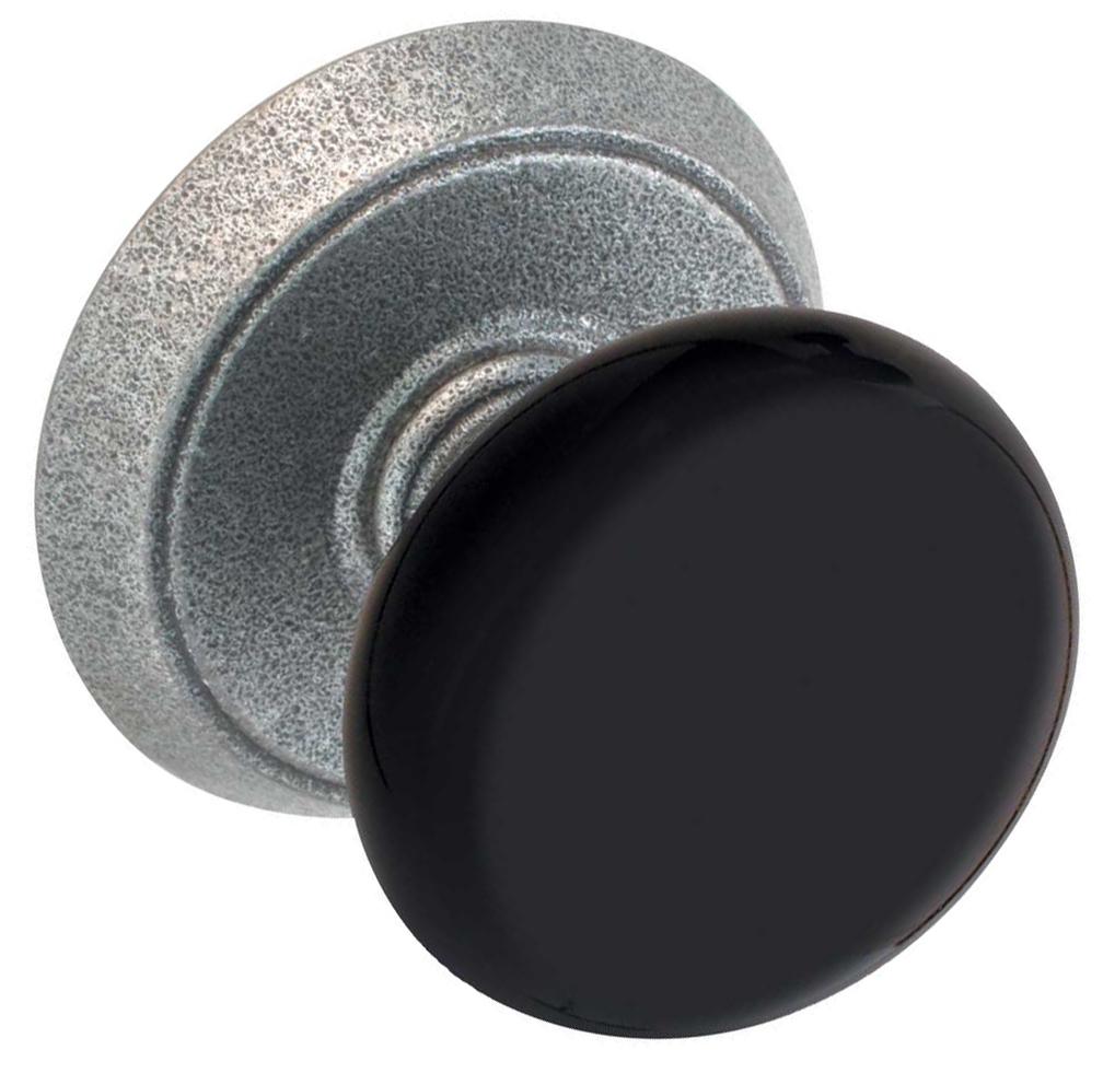 black door knobs photo - 1