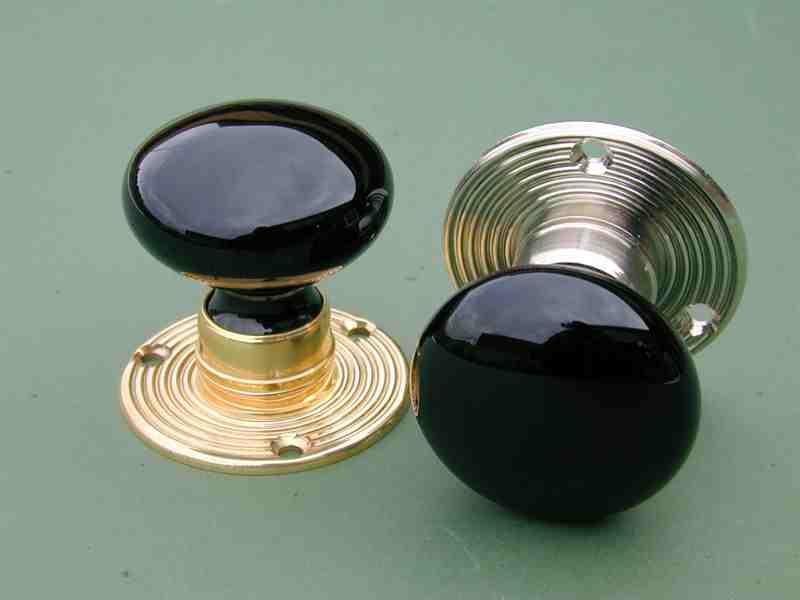 black door knobs photo - 14