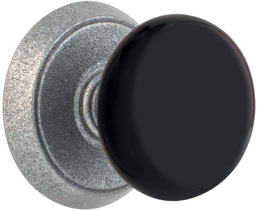black door knobs photo - 4