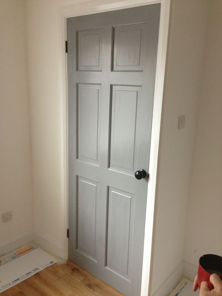 black door knobs and hinges photo - 12