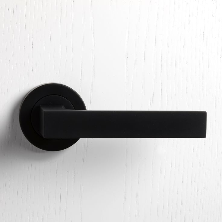black door knobs and hinges photo - 8