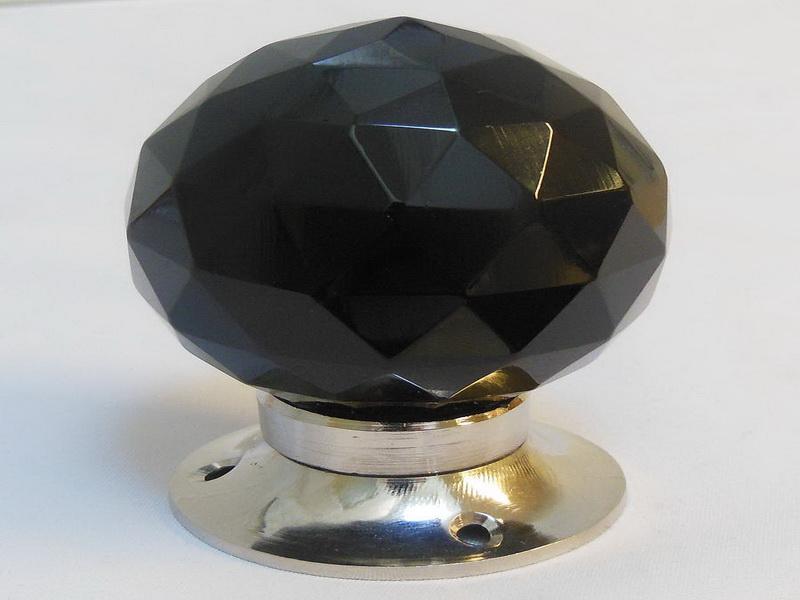 black glass door knobs photo - 10