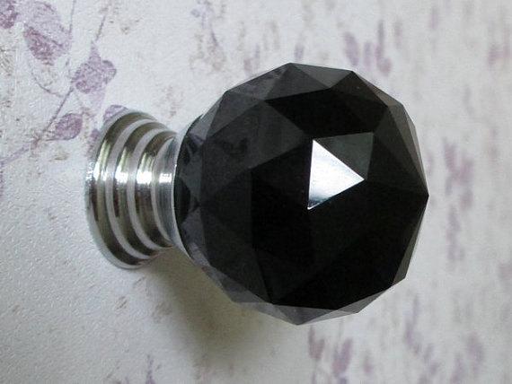 black glass door knobs photo - 11