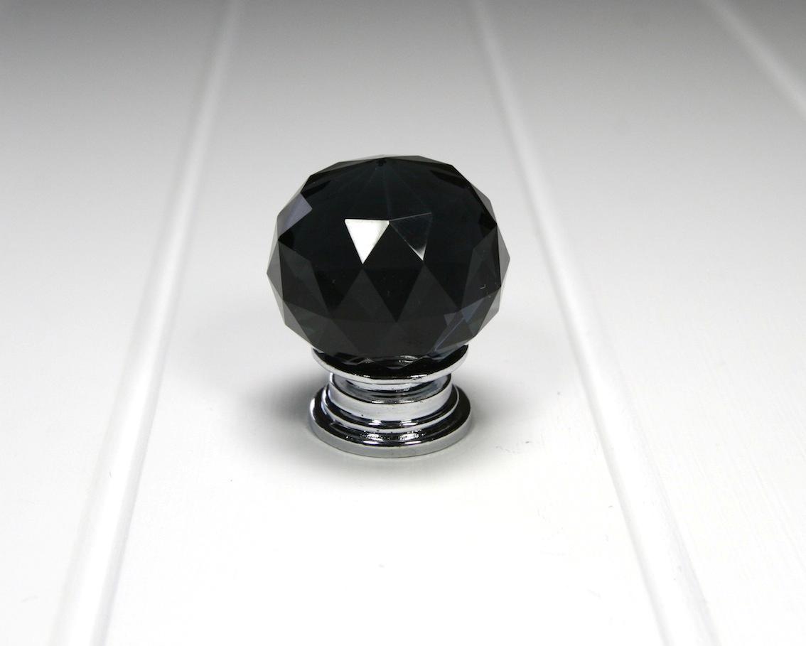 black glass door knobs photo - 12