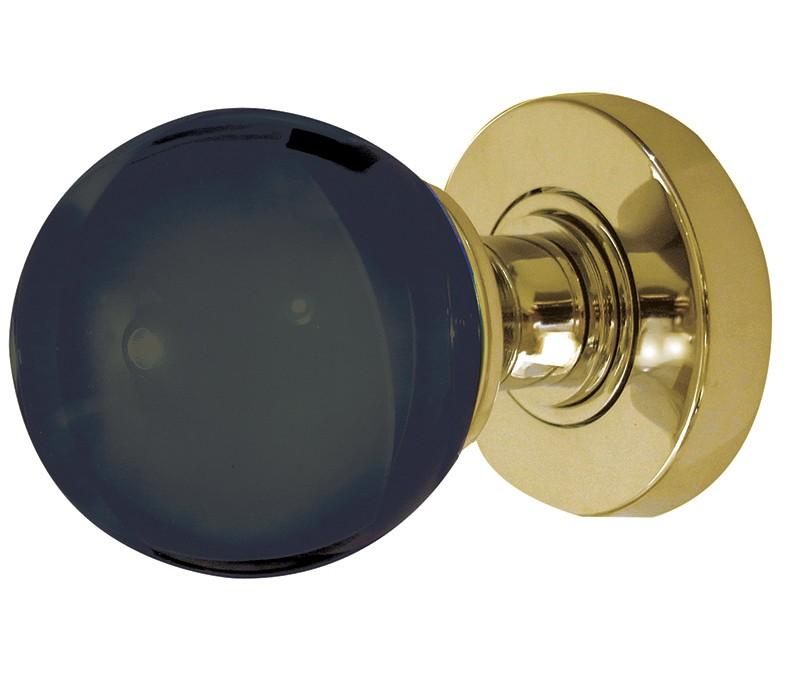 black glass door knobs photo - 17