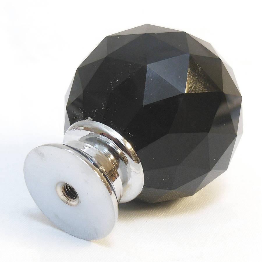 black glass door knobs photo - 7