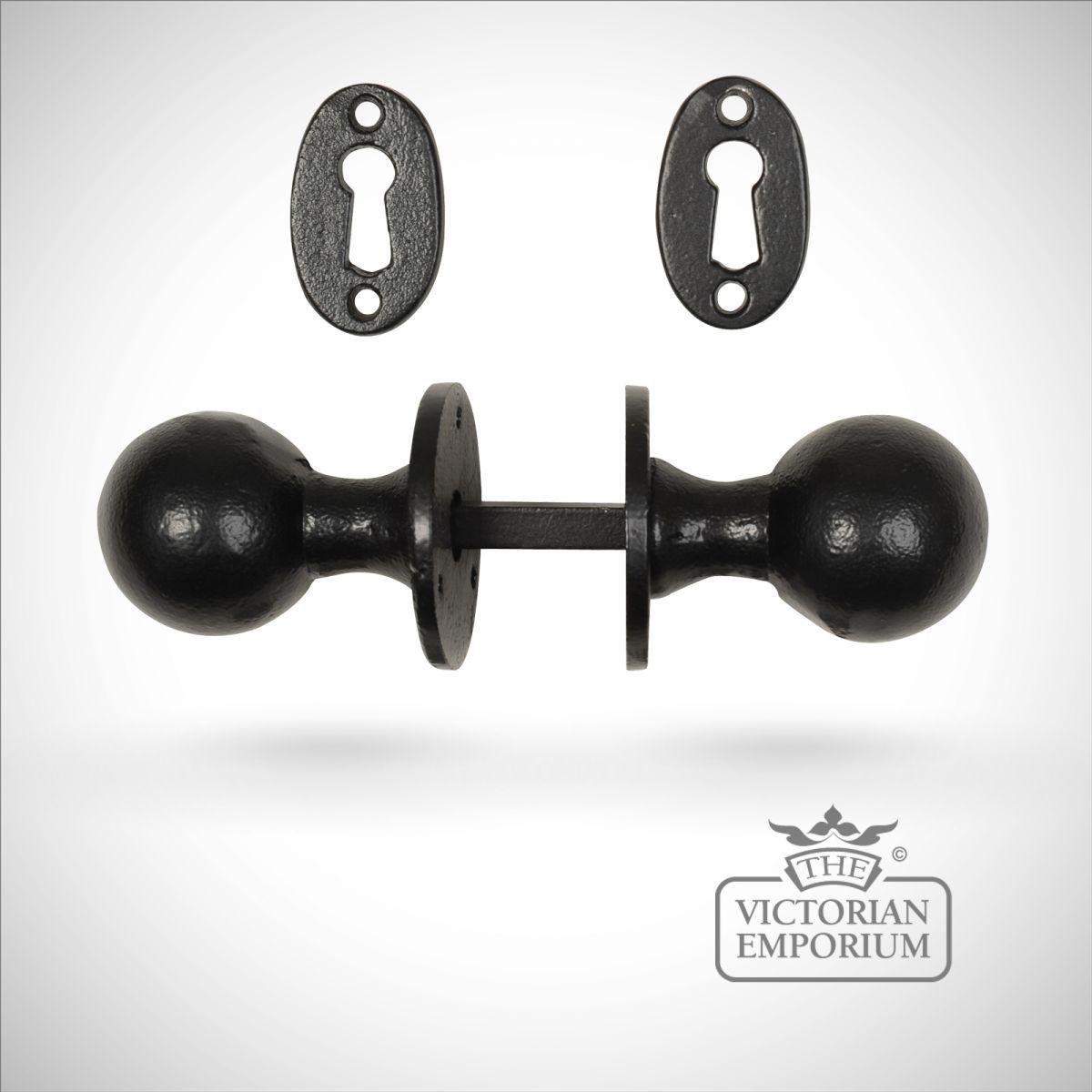 black iron door knobs photo - 10