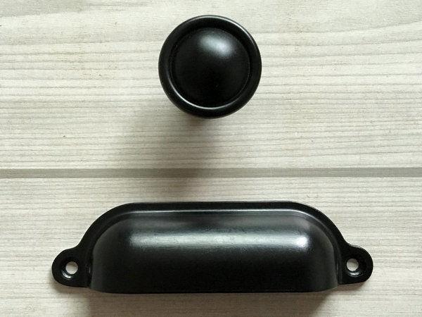 black kitchen door knobs photo - 20