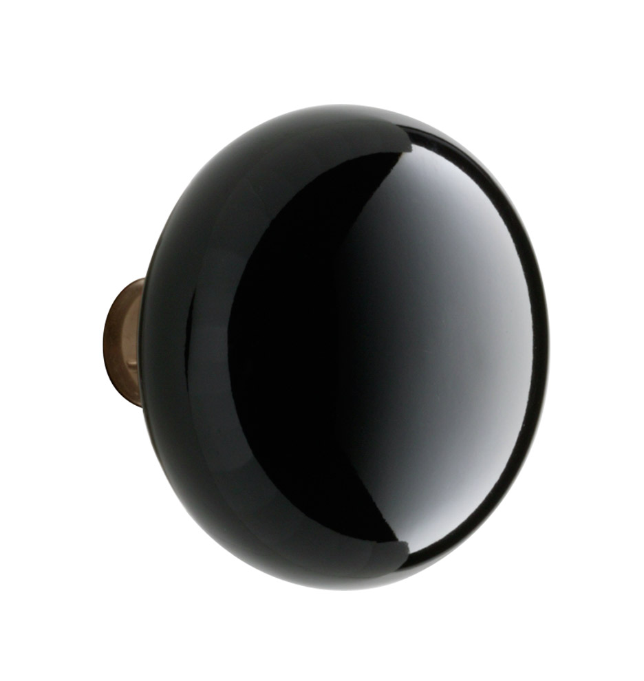black porcelain door knob photo - 1