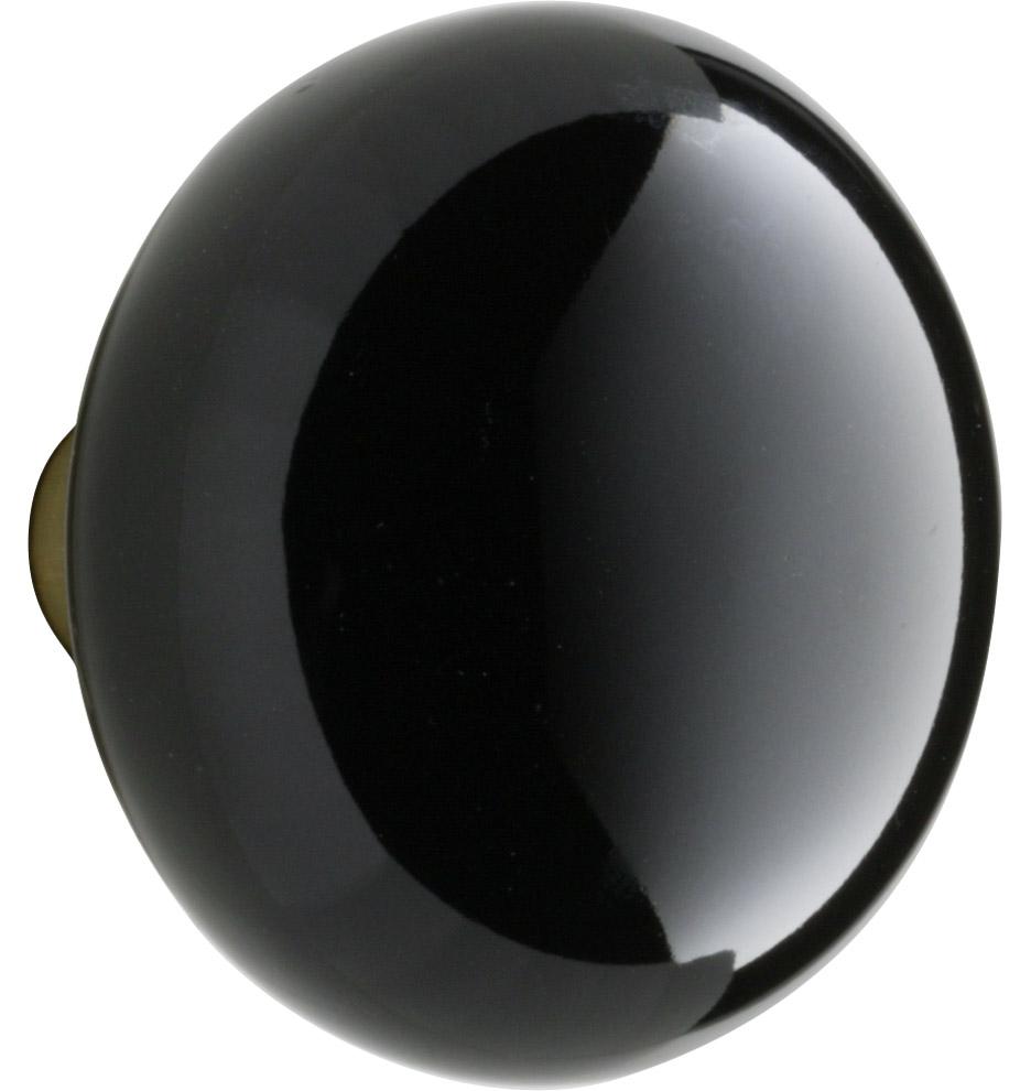 black porcelain door knob photo - 4