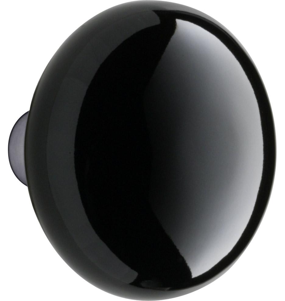 black porcelain door knob photo - 5
