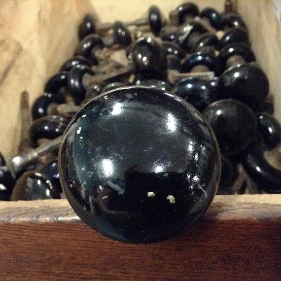 black porcelain door knobs photo - 17