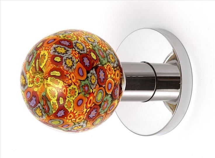 blown glass door knobs photo - 3