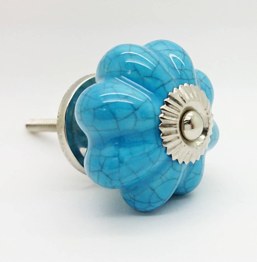 blue door knob photo - 17