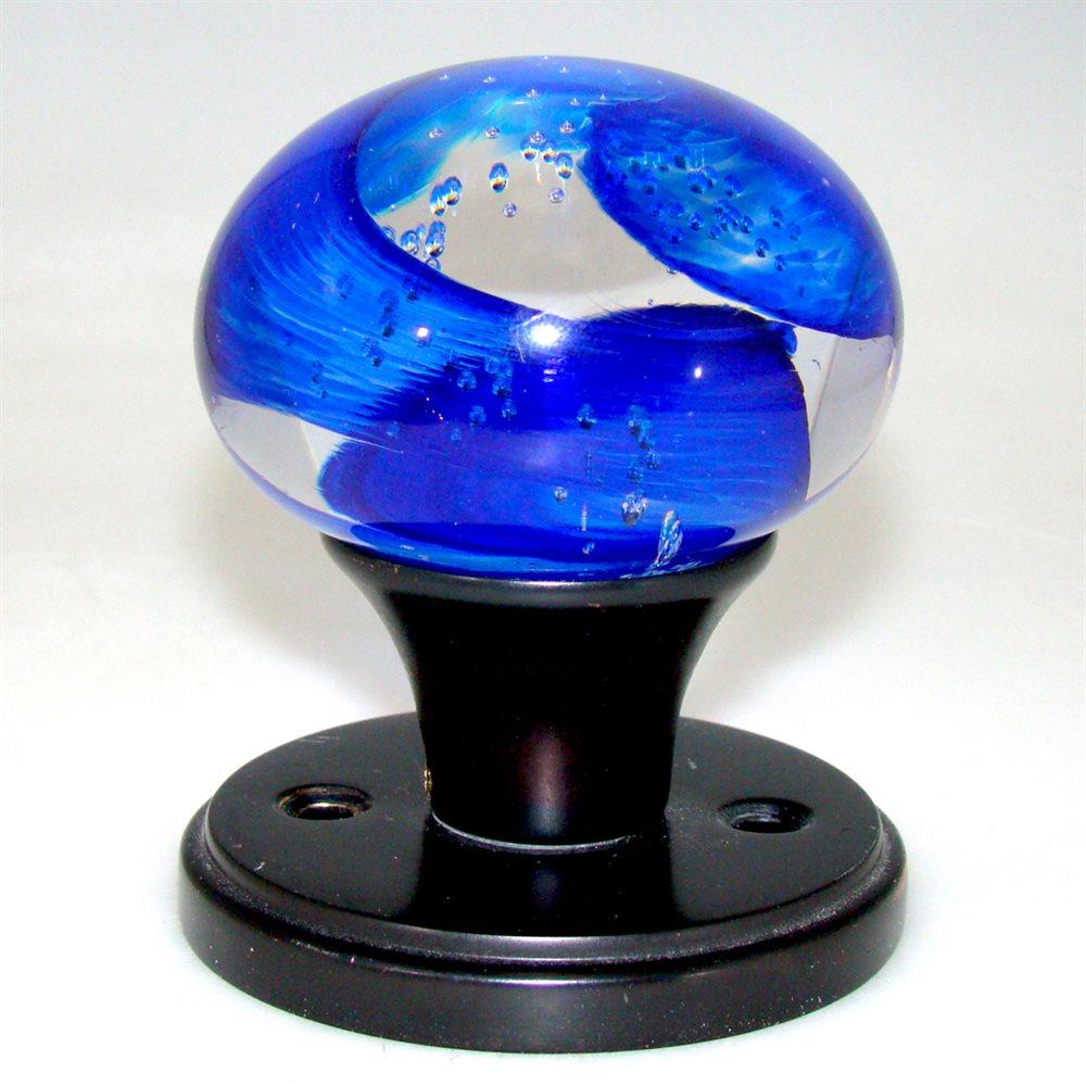 blue door knob photo - 2