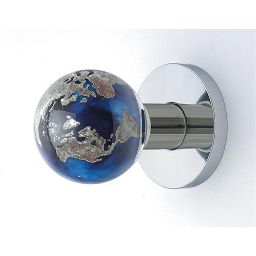 blue glass door knob photo - 14