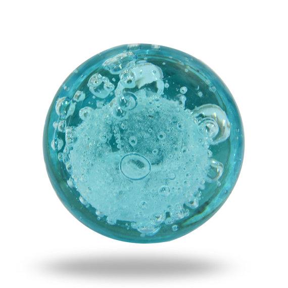 blue glass door knob photo - 5