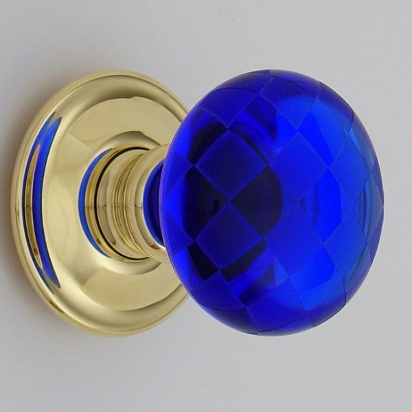 blue glass door knobs photo - 10