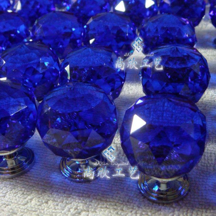 blue glass door knobs photo - 14