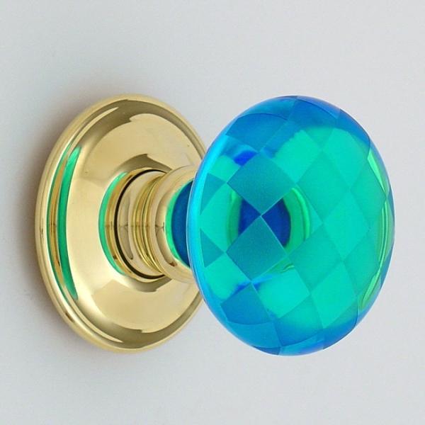 blue glass door knobs photo - 16