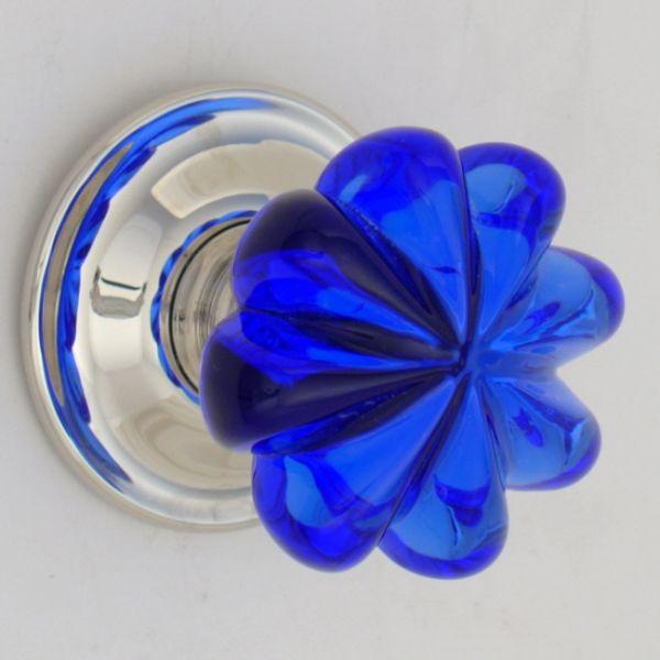 blue glass door knobs photo - 18