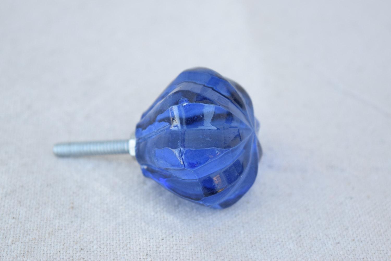 blue glass door knobs photo - 19