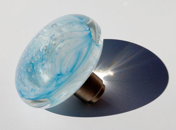 blue glass door knobs photo - 20