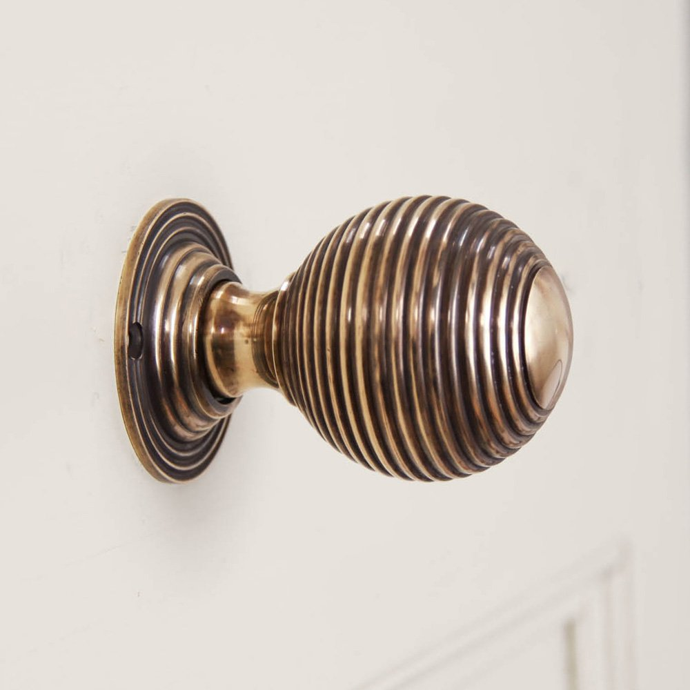 brass beehive door knobs photo - 10