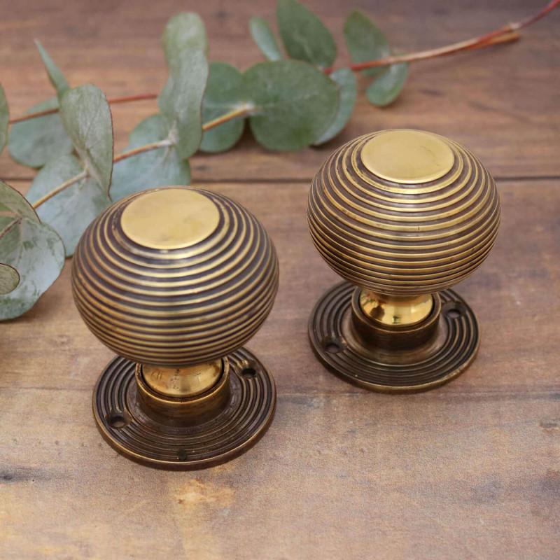 brass beehive door knobs photo - 12