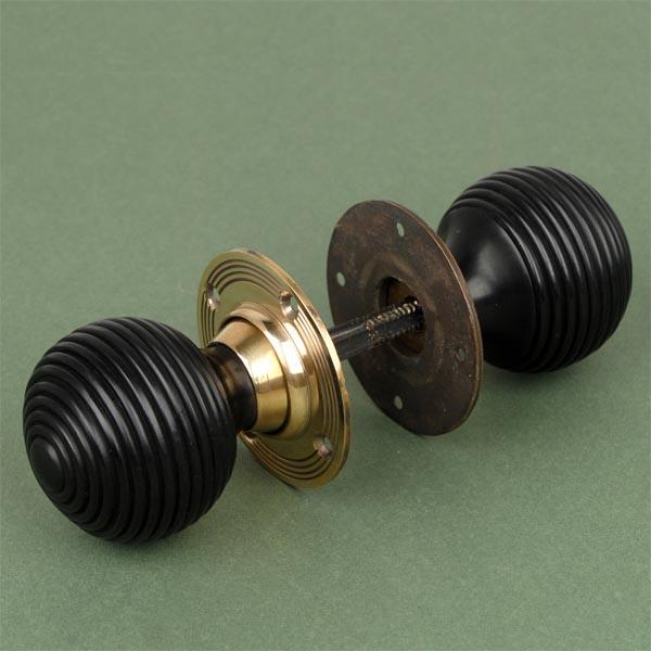 brass beehive door knobs photo - 13