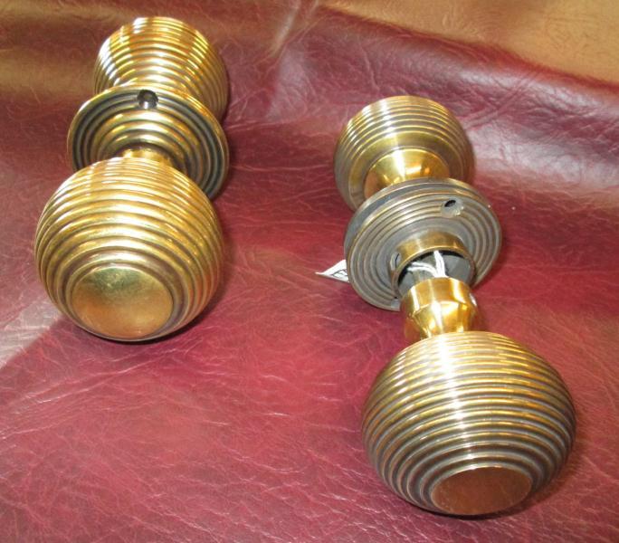 brass beehive door knobs photo - 14
