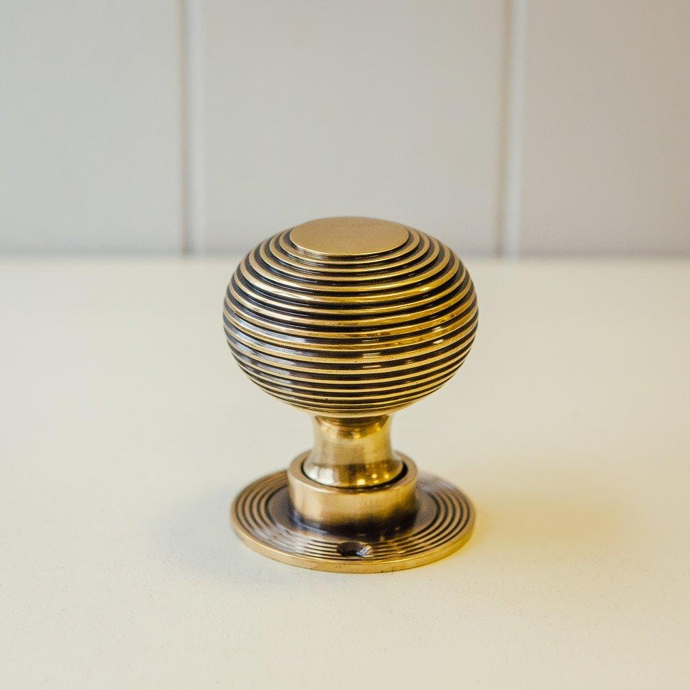 brass beehive door knobs photo - 17
