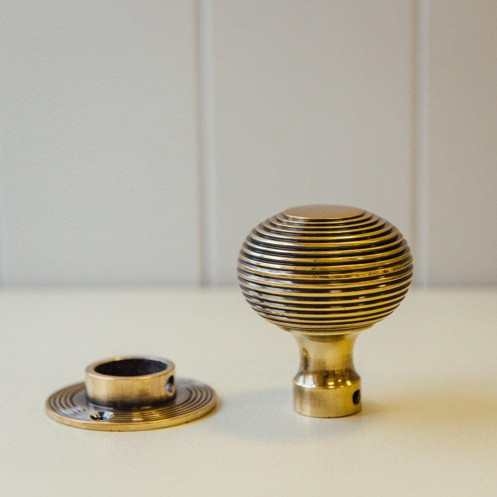 brass beehive door knobs photo - 19
