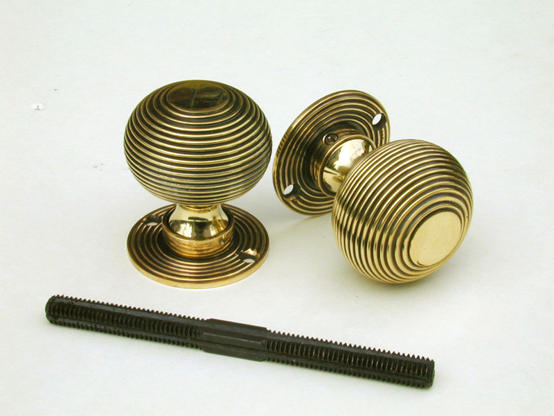 brass beehive door knobs photo - 2