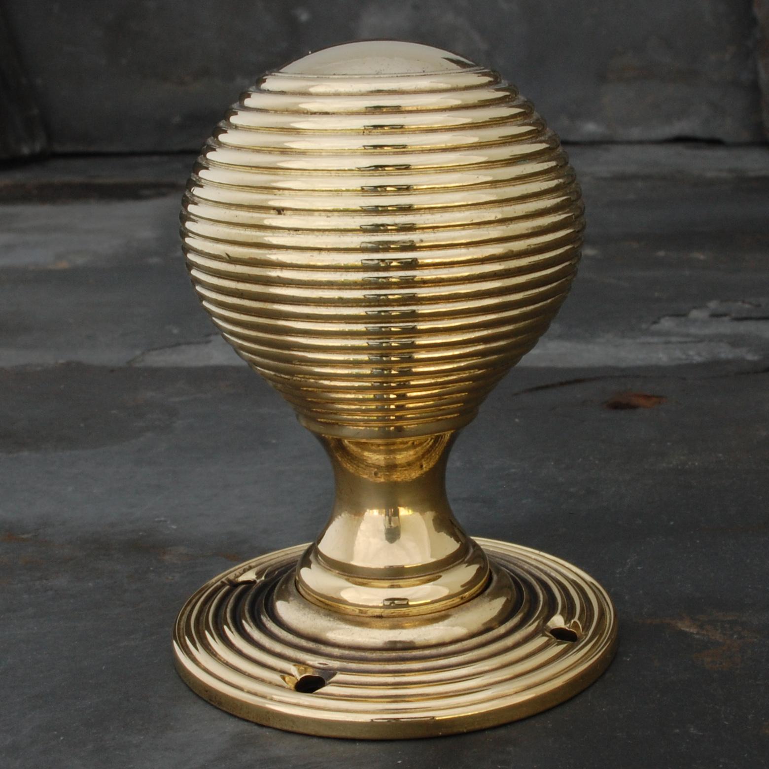 brass beehive door knobs photo - 20