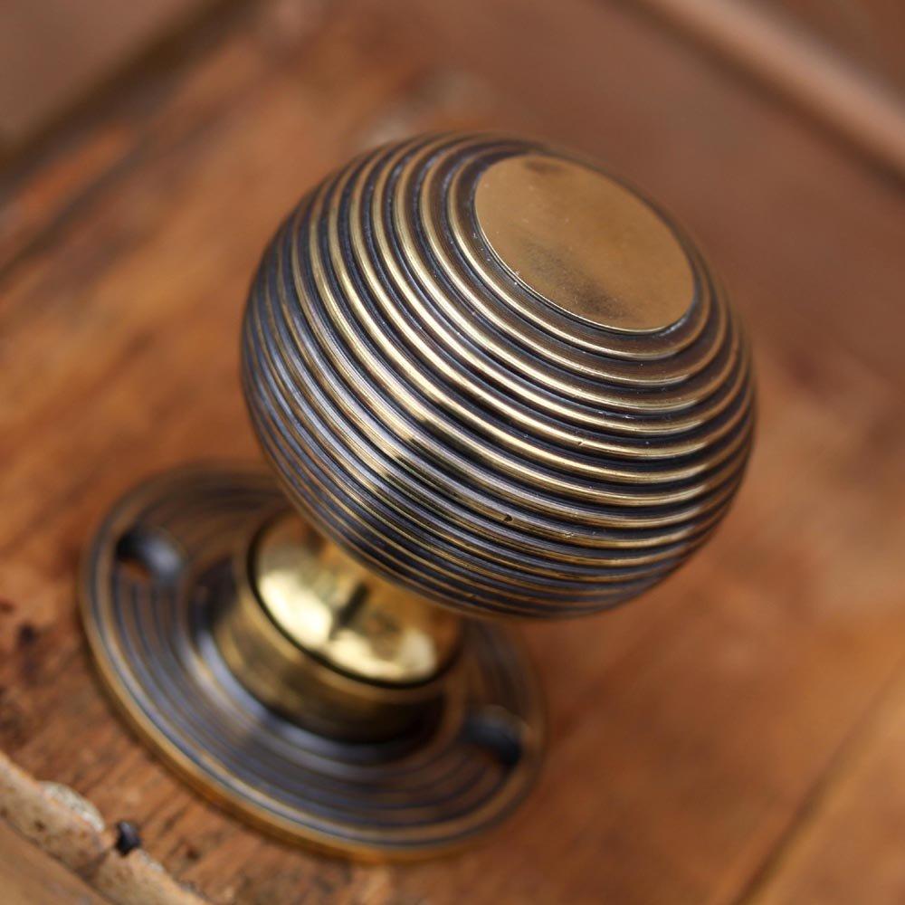 brass beehive door knobs photo - 3