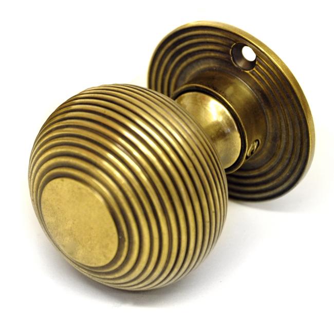 brass beehive door knobs photo - 4