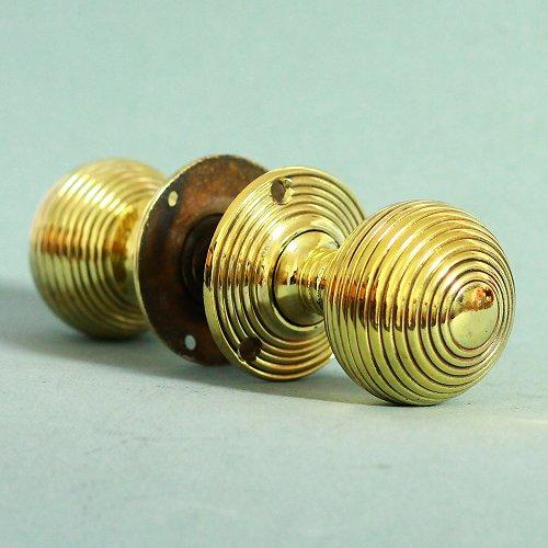 brass beehive door knobs photo - 7