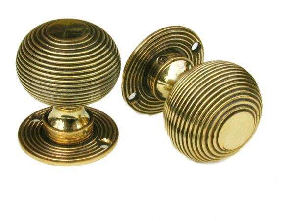 brass beehive door knobs photo - 8