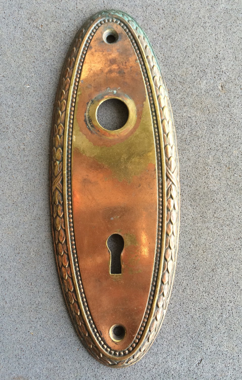 brass door knob plate photo - 10