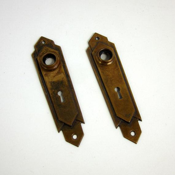 brass door knob plate photo - 15